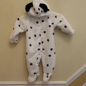 Dalmatian Fleece Footed Sleeper Costume